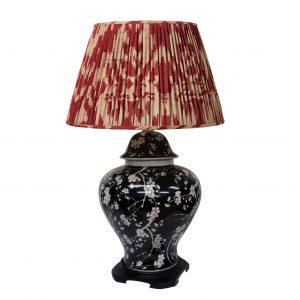 Bulbous Black Jar Lamp