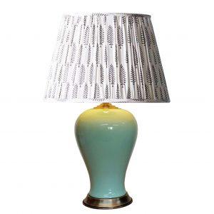 Bulbous Celadon Vase Lamp