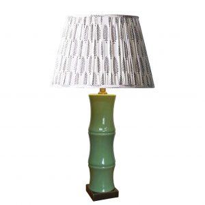 Celadon Bamboo Lamp